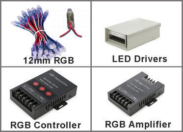 pixel di 5V 12mm RGB LED senza cartelloni pubblicitari all'aperto flessibili dei pixel 50pcs/string 0.3W DC5V IP67 LED della corda di IC