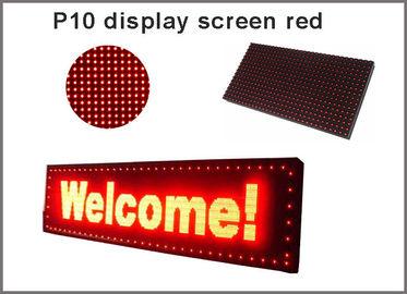 5V P10 ha condotto il contrassegno rosso della pubblicità di semioutdoor 320*160 dello schermo di visualizzazione delle illuminazione del modulo del pannello